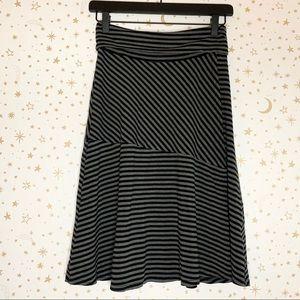 Athleta Striped Shadow Faux Wrap Drawstring Skirt